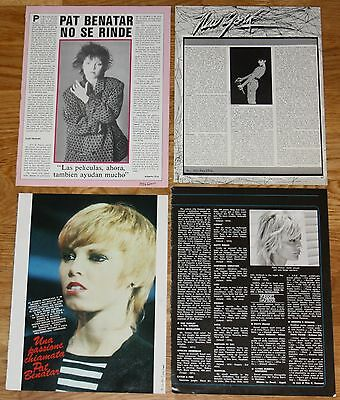 PAT BENATAR clippings 1980s photos magazine articles cuttings