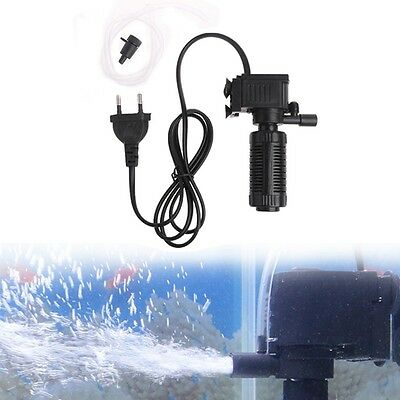 NEW Mini 3 in 1 Aquarium Internal Filter Fish Tank Oxygen Submersible Pump Spray