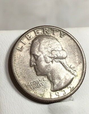 """1932-S Washington Silver Quarter~Machine Doubled """"S""""~ Highly Detailed,RARE!"""