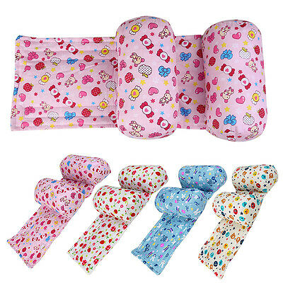 Newborn Infant Anti Roll Pillow Baby Sleep Prevent Flat Head Positioner Cushion
