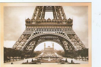 PARIS BASE OF EIFFEL TOWER Postcard