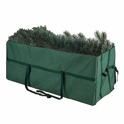 Elf Stor Heavy Duty Canvas Christmas Tree Storage Bag Large For 9' Tree Green