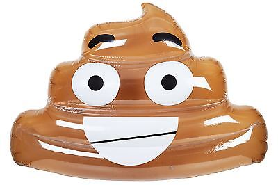 Swimming Pool Giant Inflatable Poo Emoji Floater Pool Party Accessory