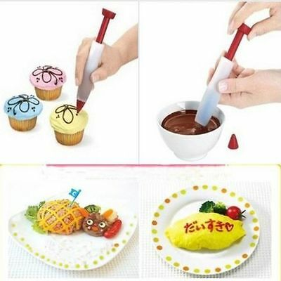Silicon Icing Syringe Cake Decor Tool Dessert Cream Chocolate Cookie Piping Pen