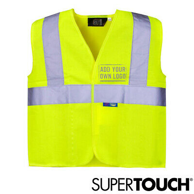 Kids Hi Vis Viz Safety Vest Childrens High Visibility Yellow Waistcoat Jacket