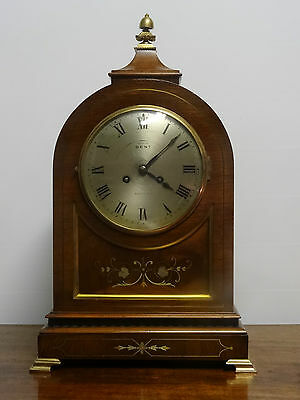SUPER 19thc MARQUETRY DOMED BRACKET CLOCK - 8 DAY - BRASS BOUND - BEAUTIFUL