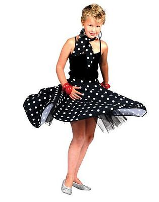 Kids 50s 60s Rock N Roll Skirt And Scarf Girls Fancy Dress Costume Party Outfit  sc 1 st  PicClick UK & KIDS 50S 60S Rock N Roll Skirt And Scarf Girls Fancy Dress Costume ...