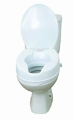 DriveMedical Raised Toilet Seat With Lid Elevating Disability Aid(Choose Height)
