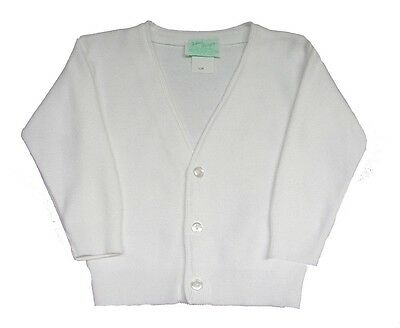 Boys Sweater Cardigan White Dressy Casual Julius Berger Infant Toddler 4-7 NWT