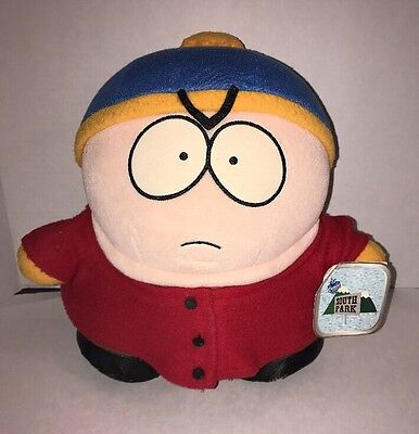 "1998 Comedy Central South Park Large Plush Cartman  Approx. 11"" NWT"
