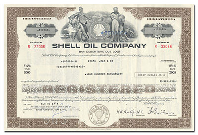 Shell Oil Company Bond Certificate