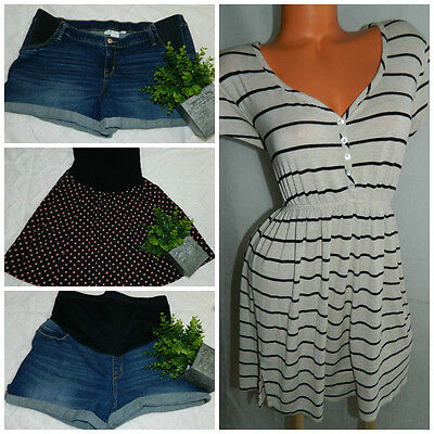 LOT (4) MATERNITY Top SHORTS Skirt XL 16 Motherhood Liz Lange OUTFIT So CHIC!  h