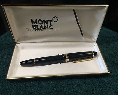 MontBlanc Le Grand Meisterstuck No 146 Fountain Pen 14K 4810 Nib Piston Filler