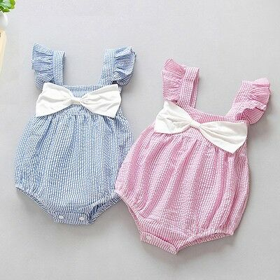 Baby Girls Summer Spanish Style Romper Jumpsuit Outfit Vest 3-6 Months Pink