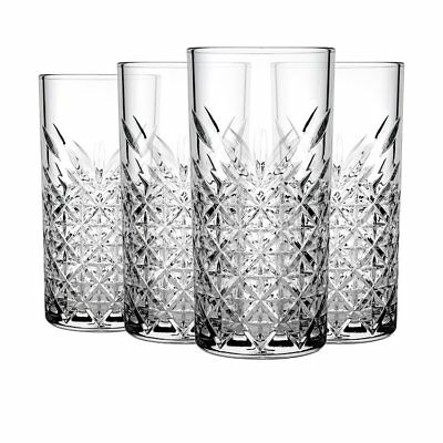 NEW Pasabahce Timeless Hi-Ball Tumbler 450ml Set of 4