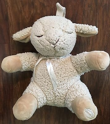 "Cloud B Sleep Sheep - Plush Musical Sounds Crib Soother Toy - Large - 11"" - Vgc"