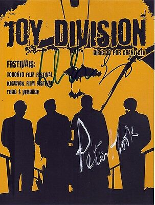 "FAB 10"" x 8"" COLOUR PRINT ( COA ) SIGNED ""TTM"" BY THREE MEMBERS OF JOY DIVISION"