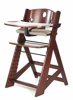 NEW Keekaroo Height Right Kids High Chair, Mahogany FREE Shipping