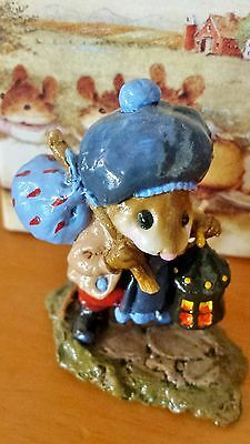 "Wee Forest Folk M-211 ""Wanderlust"" Blue RETIRED Mint"