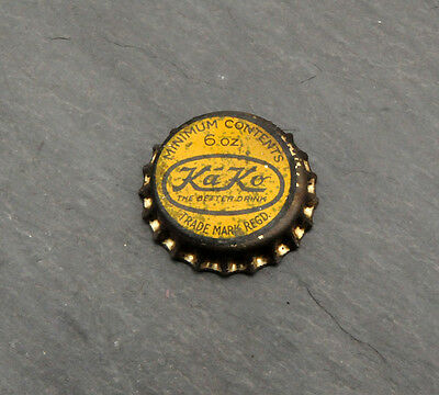 RARE Ka-Ko Soda Pop Cork Lined Bottle Cap Canadian Montreal, Quebec