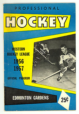 HTF 1956-57 Edmonton Flyers WHL Hockey Program vs. New Westminster Royals