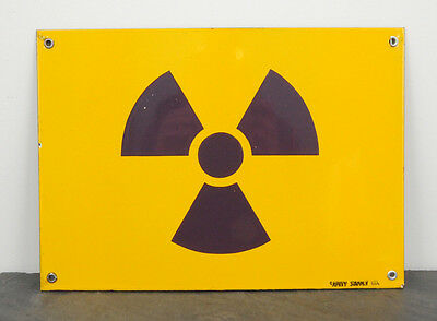 RARE 1960's Nuclear Power Plant Porcelain Safety Supply Co. Warning Sign - NM!
