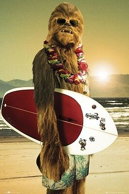 Star Wars Chewbacca Surfboard Poster 24X36 New Free Shipping