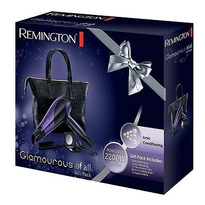 Remington D3192GP Glamourous of All Hair Dryer Gift Pack / Stylish Bag BNIB