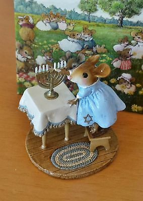 "Wee Forest Folk M-519 ""Lighting The Menorah On Haukkah"" Mint"