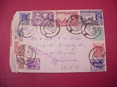 Wwii Flying Tigers Avg 1941 Cover From Ace Pilot Camco Rangoon Burma Registered