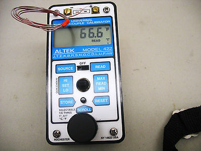 ALTEK Universal Thermocouple Calibrator model 422 Lightly Used !