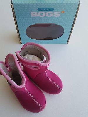 toddler girls Baby Bogs pink boots size 6