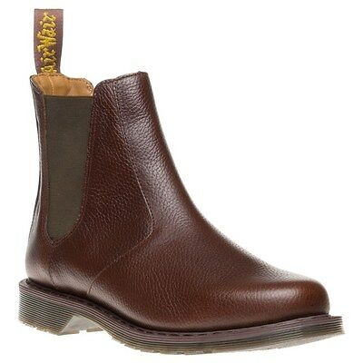 New Mens Dr. Martens Brown Oscar Victor Leather Boots Chelsea Pull On