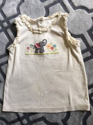 Baby Girl Tank Top GYMBOREE 2T Toddler Elephant Print