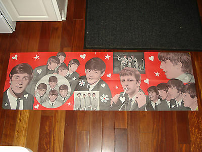 "1964 Beatles Banner Poster 17"" X 53"", Original, Not The Common Dell Poster, Rare"