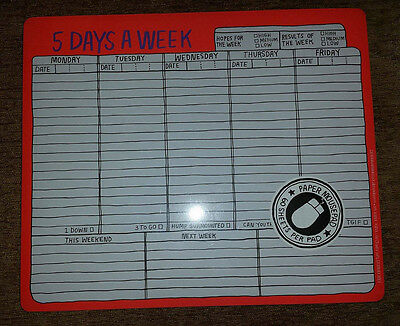 5 Days a Week Mousepad (Paper Mousepad) by Knock Knock - Orange