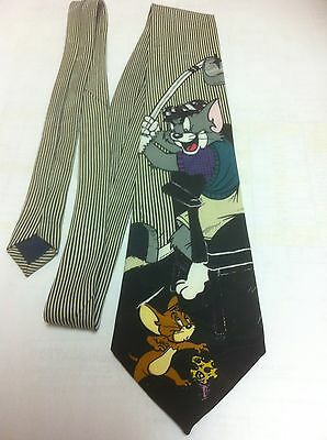 Vintage Tom & Jerry Golf Necktie dated 1994 Turner Ent. Tie ~ Lakeside Apparel