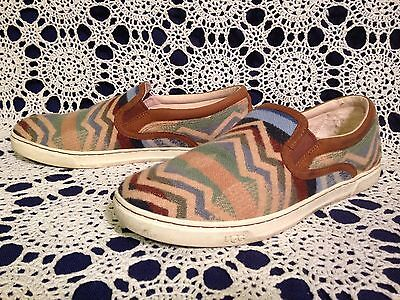 UGG Pendleton Mens Size 11 Chestnut Brown Scuff Deco Slip On Shoes