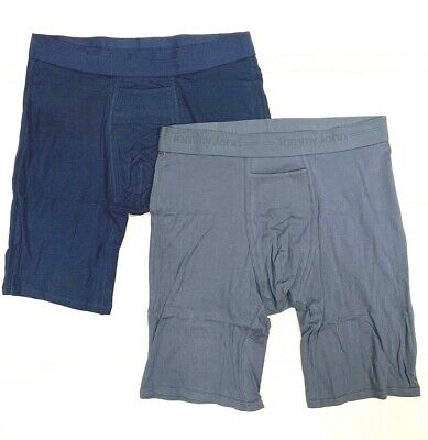 TOMMY JOHN 2-PACK GREY/BLUE X-LARGE Boxer Briefs NWT!