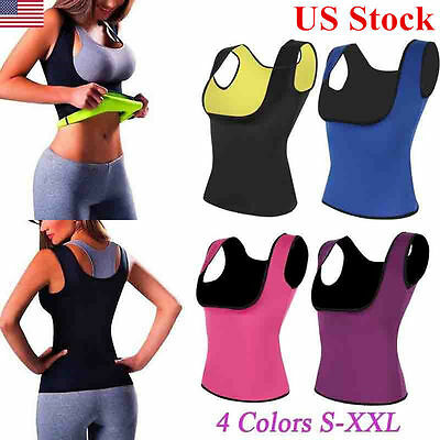 Women Sweat Neoprene Body Shaper Tops Slimming Waist Trainer Cincher Yoga Vest
