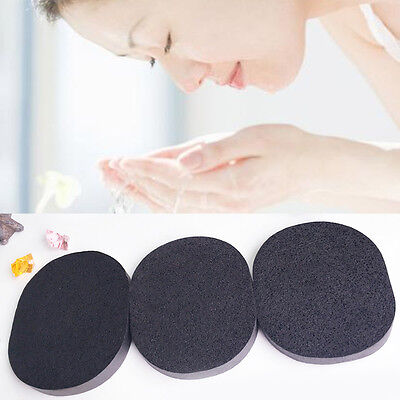 Bamboo Charcoal Cleansing Sponge Face Wash Powder Puff Makeup Remover Sponge