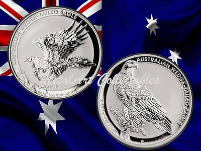 2015 & 2016 Australian Wedge-Tailed Eagles MS BU  - TWO 1 OZ SILVER COINS