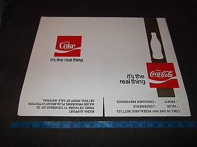 "Coca Cola Folder Employee Book Cover ""Its The Real Thing"" Vintage Coke Original"