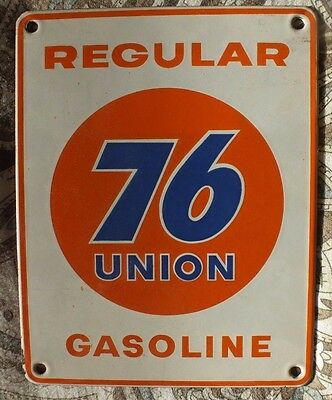UNION 76 Regular small old original porcelain gas gasoline pump porcelain sign