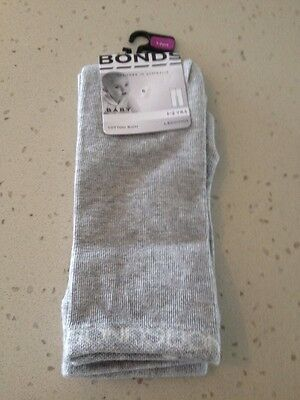 BNWT Bonds classic leggings in new grey marle size 1-2 years