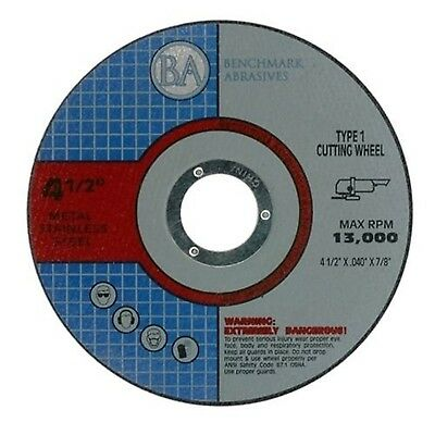 """4.5""""x.040""""x7/8"""" Quality Thin Cut Off Wheel Metal & Stainless Steel - 50 Pack"""