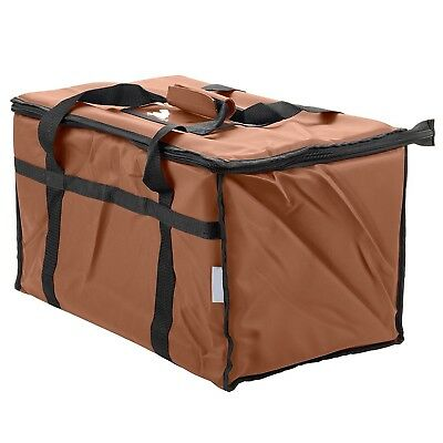 Insulated Food Delivery Bag Pan Carrier (Brown)