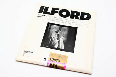 25 Ilford Ilfobrom Galerie Fb Glossy 8X10 B&w Photography Paper