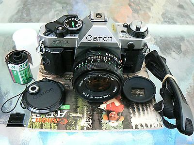Canon Ae-1 Program Camera With Canon Fd 50Mm F1.8 Lens *serviced *excellent+