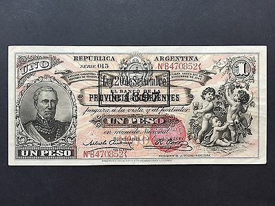 Argentina 1 Peso PS1131c Dated 1888 Overprint Date of Issue 1897 VF/VF+